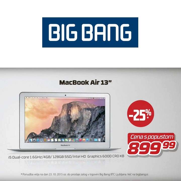 Big Bang - TV oglas - animirani telop - Apple MacBook Air